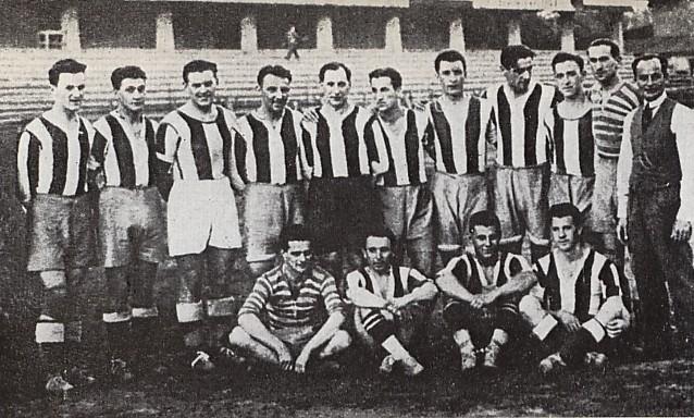 Állnak (balról): Lyka II, Székely, Polgár, Papp, Takács II, Lázár, Móré, Toldi, Kemény, Kutasi, Blum Zoltán (edző). Ülnek: Háda, Táncos, Sárosi, Korányi