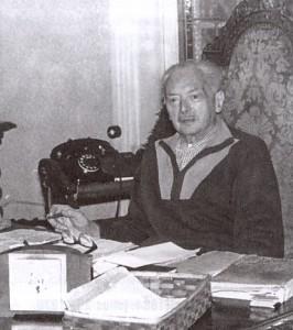 Az idős dr.Borbás Gáspár